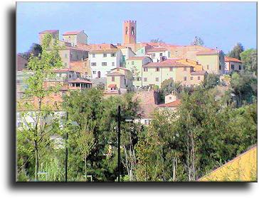 Veduta di capraia da Montelupo Fiorentino